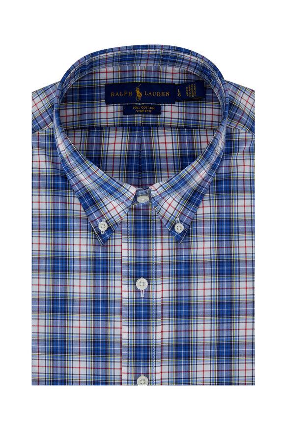 Polo Ralph Lauren Royal Blue Multi Plaid Sport Shirt