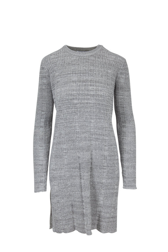 Elizabeth & James Kellen Flannel Gray Ribbed Knit Tunic