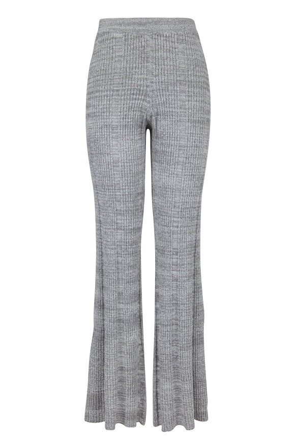 Elizabeth & James Joan Flannel Gray Ribbed Pull-On Pant