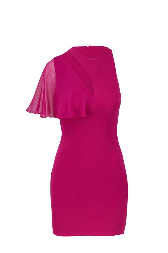 Cushnie et Ochs Magenta Cut-Out Mini Dress