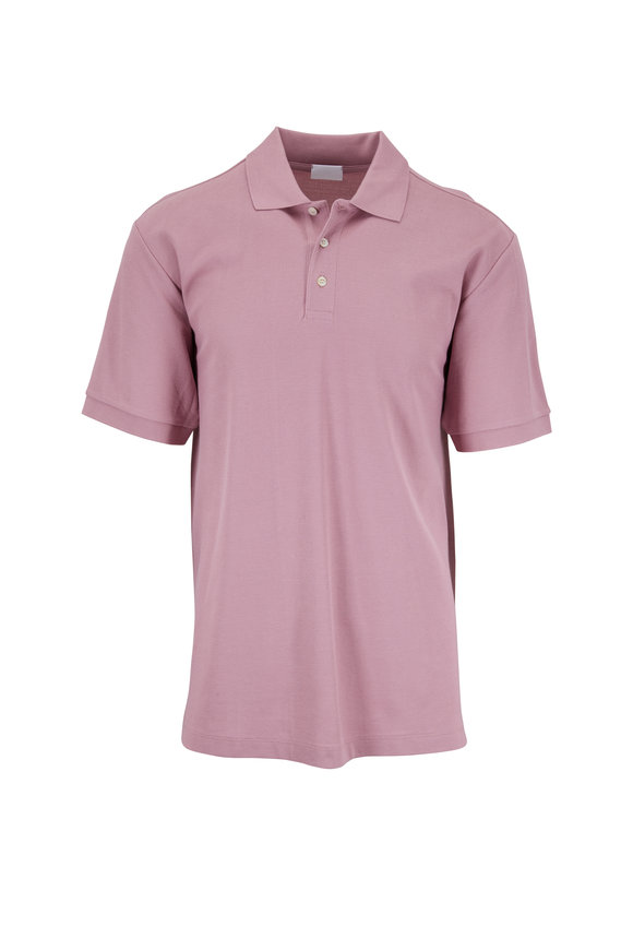 Handvaerk Old Rose Cotton Short Sleeve Polo