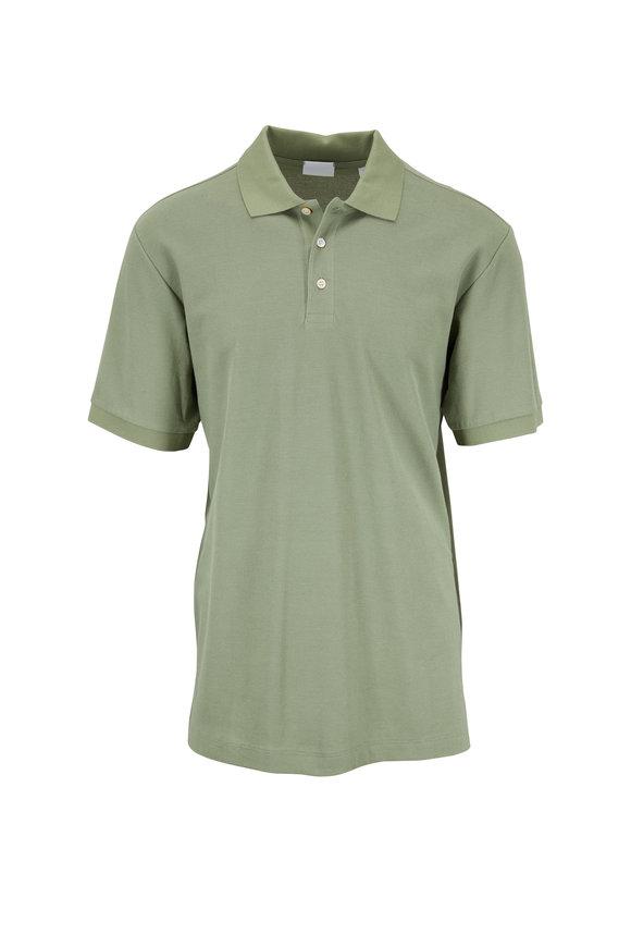 Handvaerk Summer Green Cotton Short Sleeve Polo