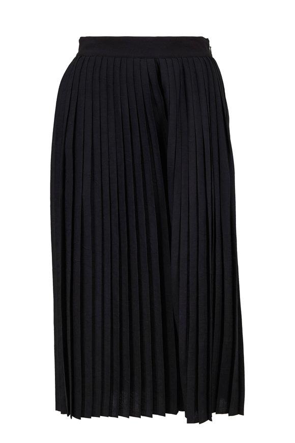 Vince Black Pleated Side-Zip Culotte
