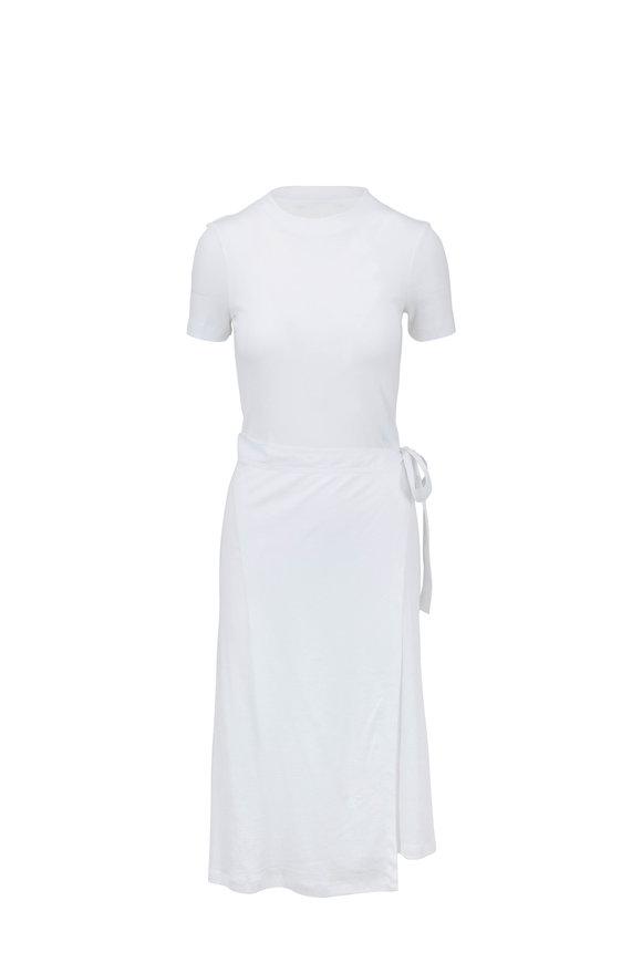 Rosetta Getty White Apron Wrap Long T-Shirt