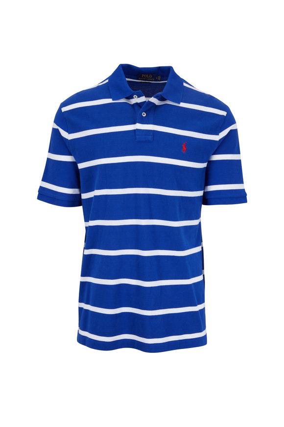 Polo Ralph Lauren Royal Blue & White Striped Polo