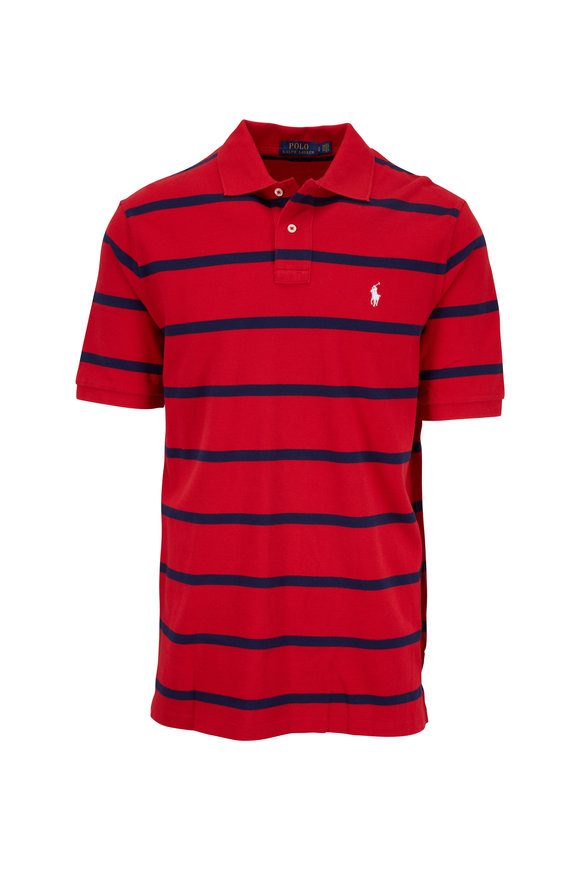 Polo Ralph Lauren Red & Navy Striped Classic Fit Polo