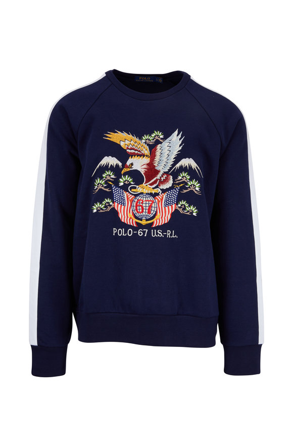 Polo Ralph Lauren Navy Americana Knit Pullover