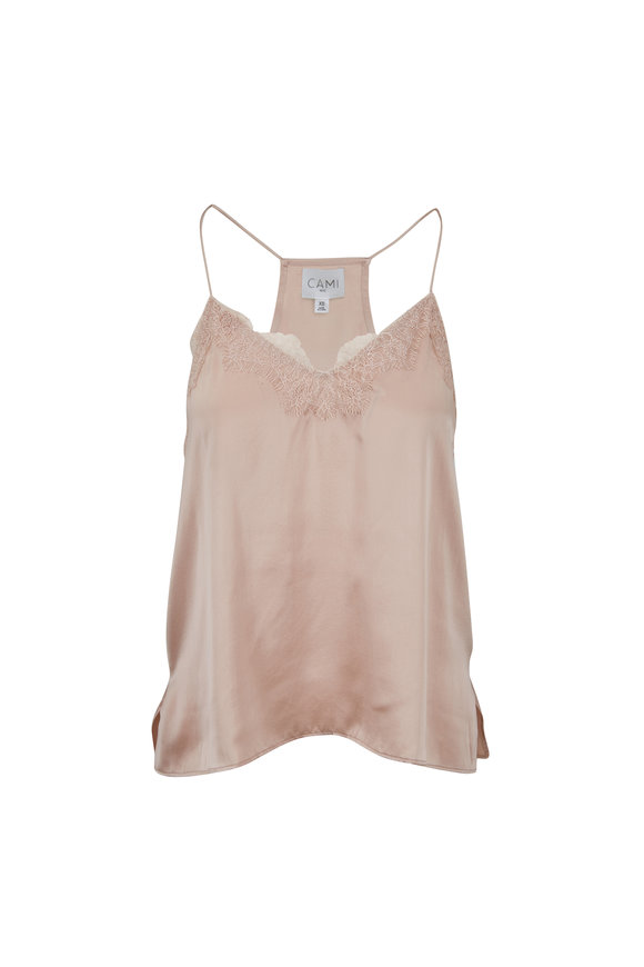 Cami NYC The Racer Rose Dust Charmeuse Cami
