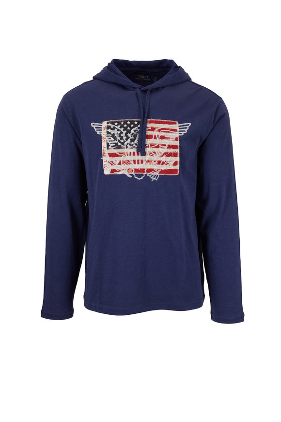 Polo Ralph Lauren Dark Cobalt Cotton Americana Hoodie