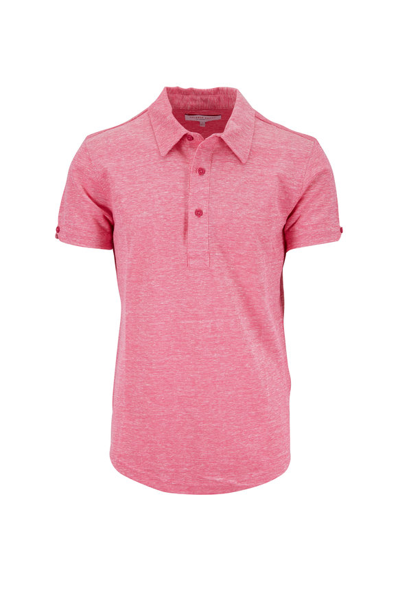 Orlebar Brown Sebastian Paradise Pink Linen Polo
