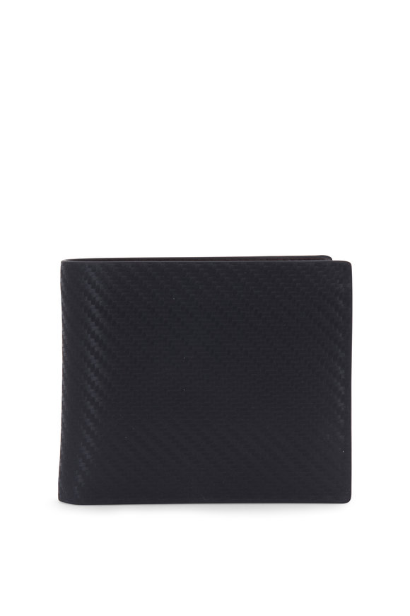 Dunhill Black Chassis Leather Billfold Wallet