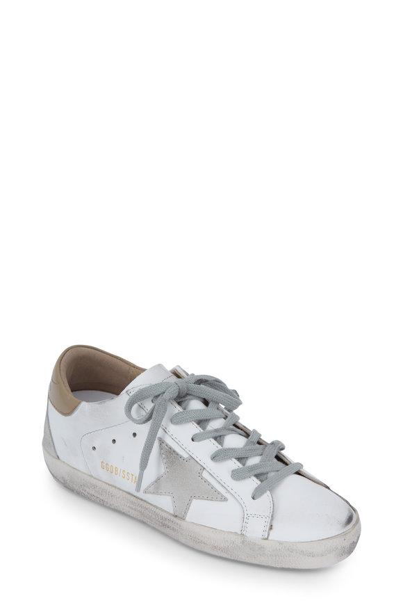 Golden Goose Superstar White & Nude Leather Sneaker