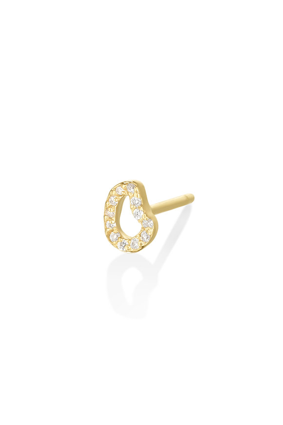 Amanda Pearl 14K Yellow Gold Full Pavé Diamond Earring