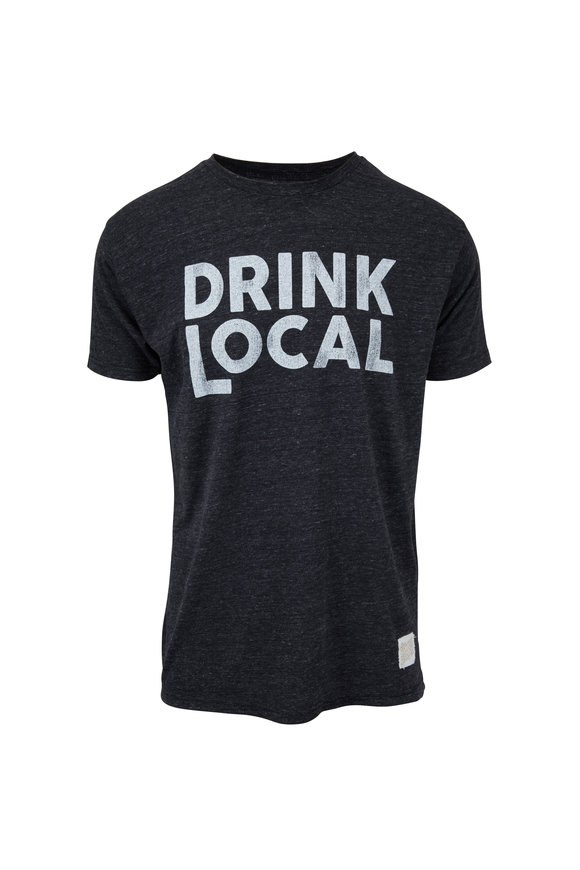 Retro Brand Dark Gray Drink Local T-Shirt