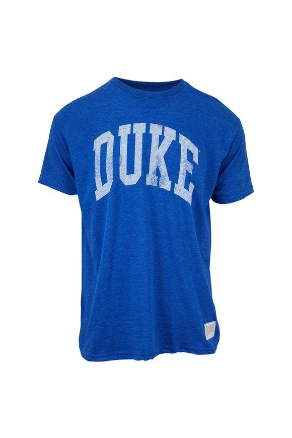 Retro Brand Blue Duke Logo T-Shirt