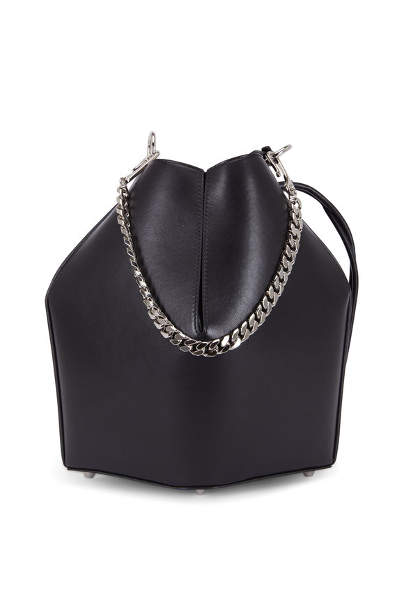 Alexander McQueen Black Leather The Bucket Bag