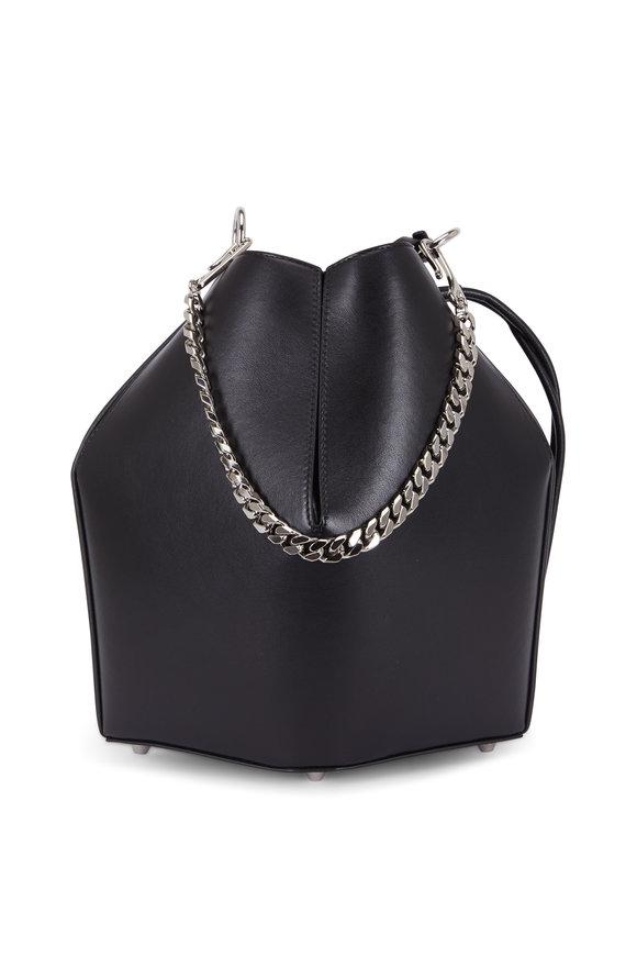 Alexander McQueen Black Leather The Bucket Bag