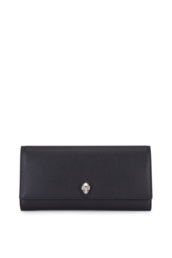 Alexander McQueen Black Grained Leather Large Wallet