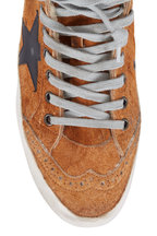 Golden Goose - Mid Star Brown Suede Shearling Lined Sneaker