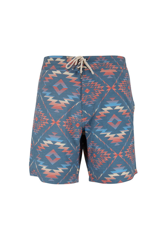Faherty Brand Chankillo Horizon Blue Board Short