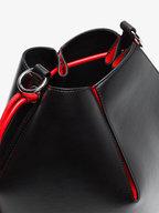 Alexander McQueen - Black & Red Leather The Bucket Bag