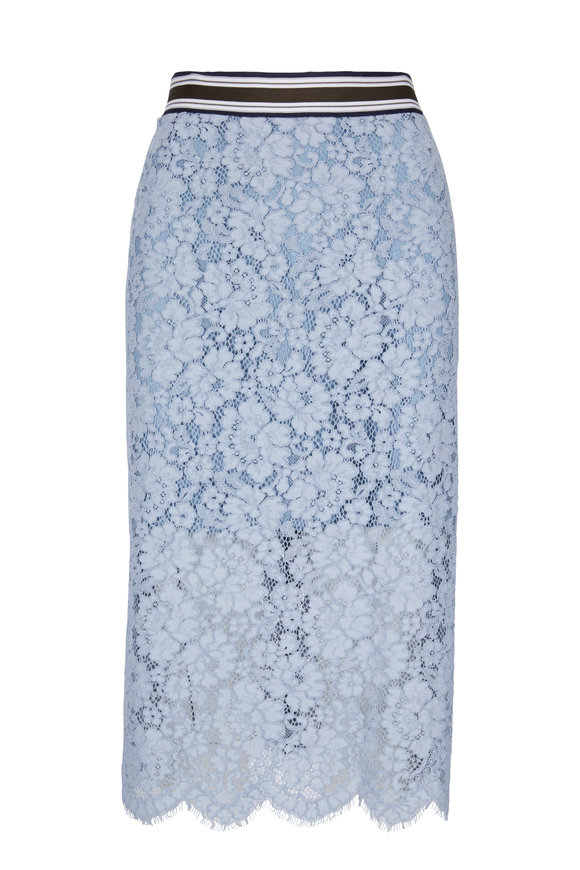 Dorothee Schumacher Bold Poetry Blue Lace Skirt
