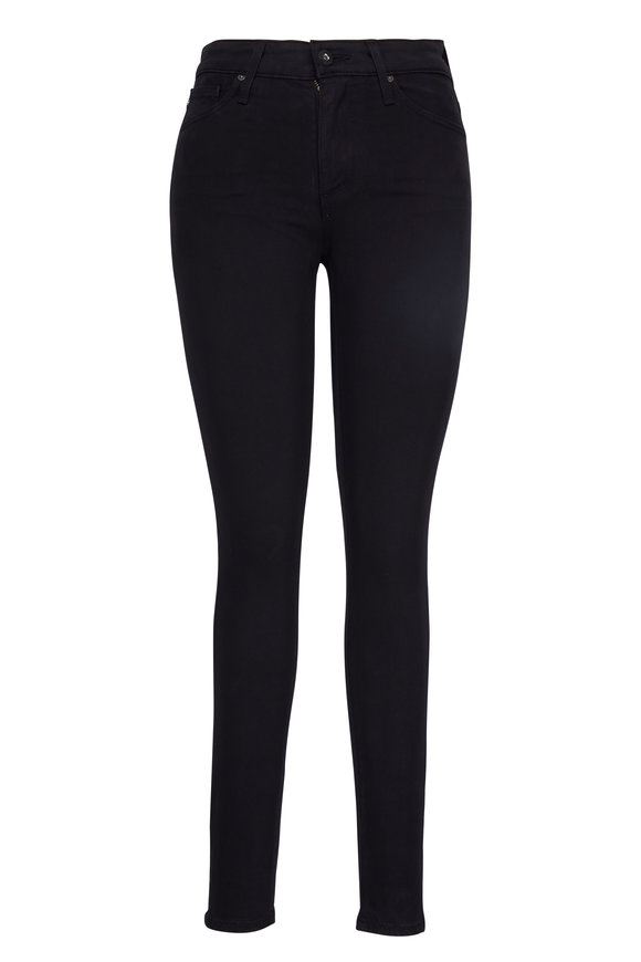 AG - Adriano Goldschmied Farrah Super Skinny Black Ankle Jean