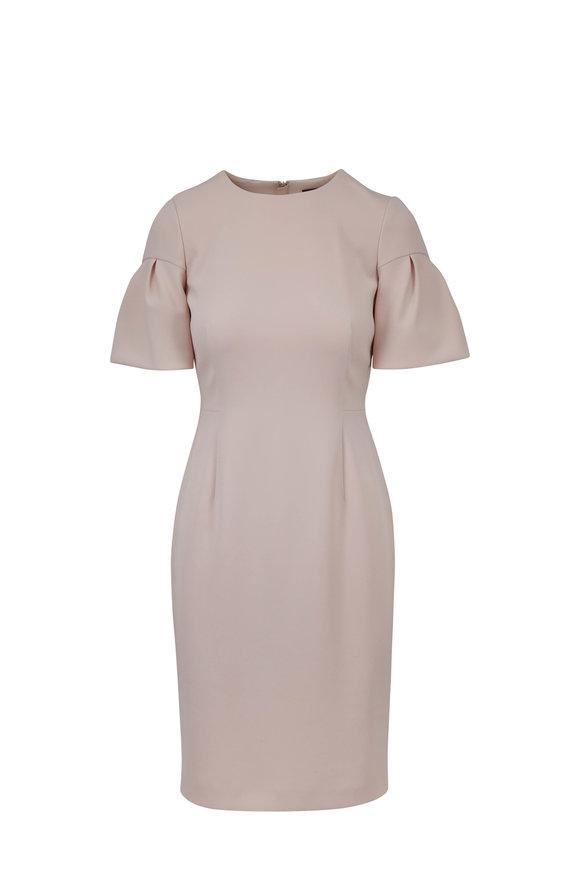 Paule Ka Powder Pink Pleated Sleeve Dress