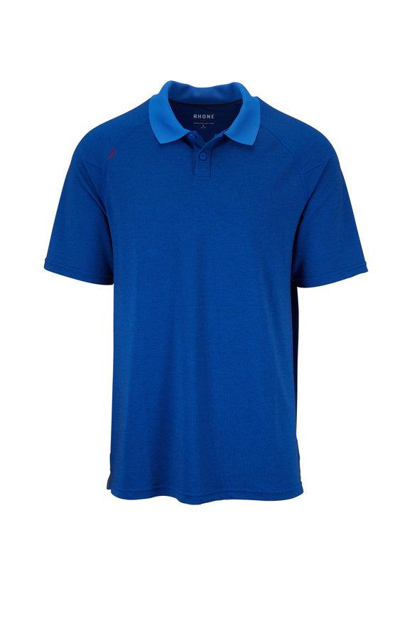 Rhone Apparel Delta Royal Blue Textured Polo