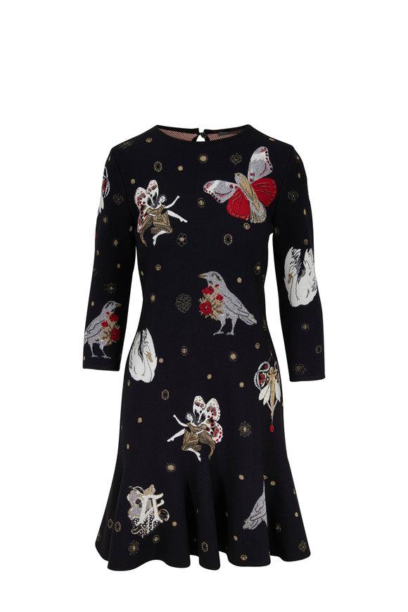 Alexander McQueen Black Gothic Fairytale Jacquard Dress