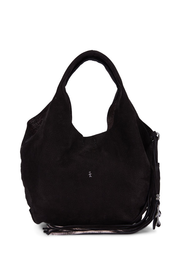 Henry Beguelin Canotta Black Suede Small Bag