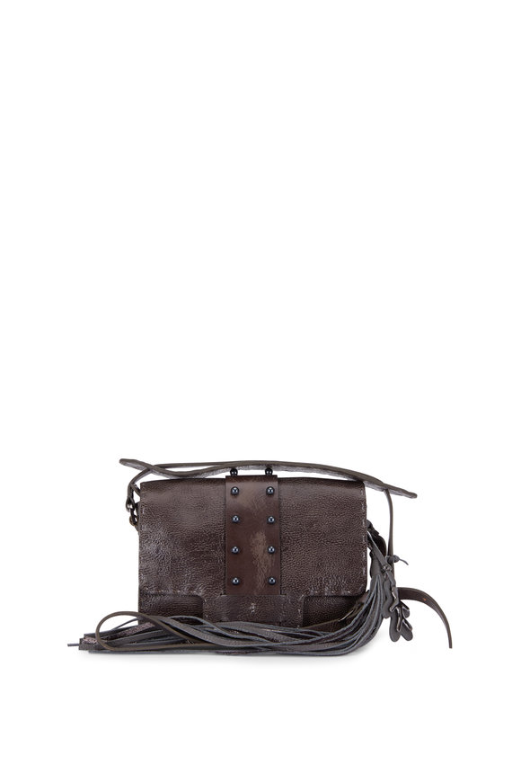 Henry Beguelin Ada Anthracite Small Studded Lux Bag
