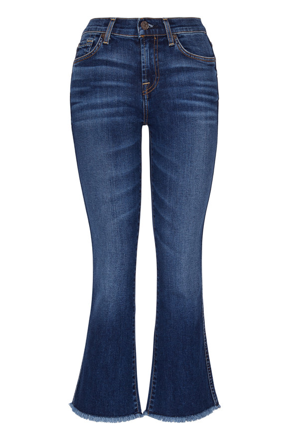7 For All Mankind Cropped Boot Kick Flare Jean