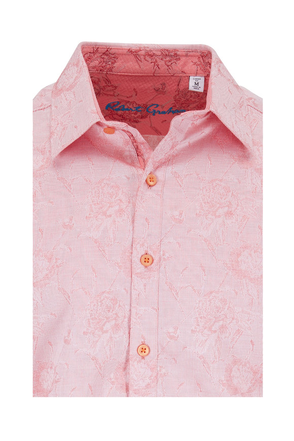 Robert Graham Gilberts Red Floral Classic Fit Sport Shirt