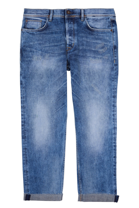 Hudson Clothing Sartor Faded Blue Relaxed Skinny Jean