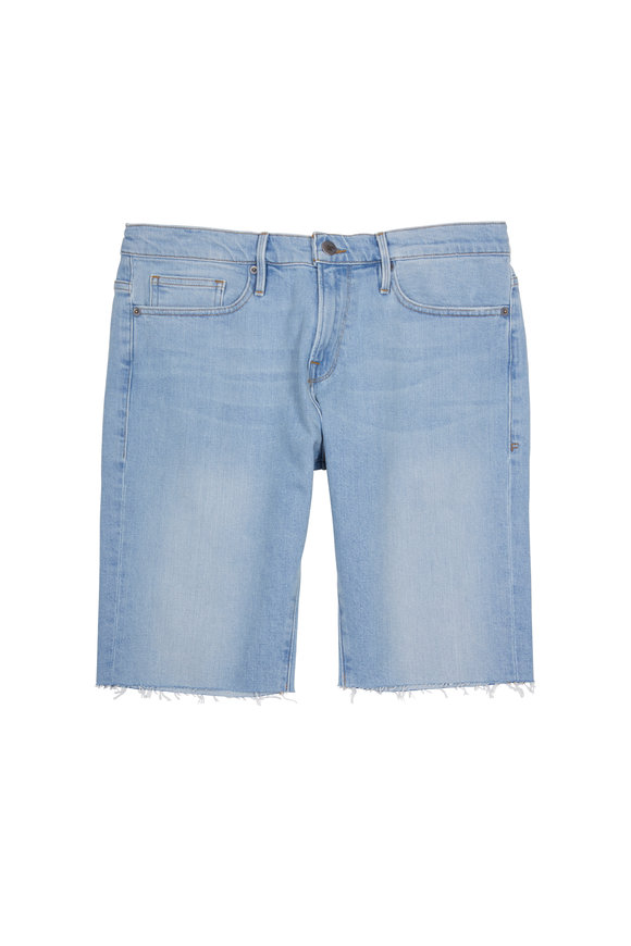 Frame L'Homme Cut-Off Denim Shorts