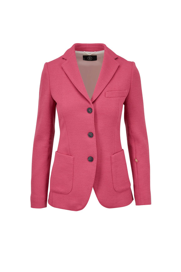 Bogner Francis Pink Three Button Textured Jacket