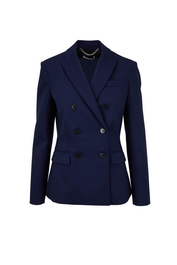 Altuzarra Indiana Berry Blue Stretch Wool Blazer