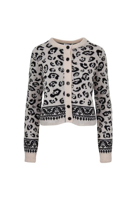 Altuzarra Fawn Leopard Print Button Cardigan