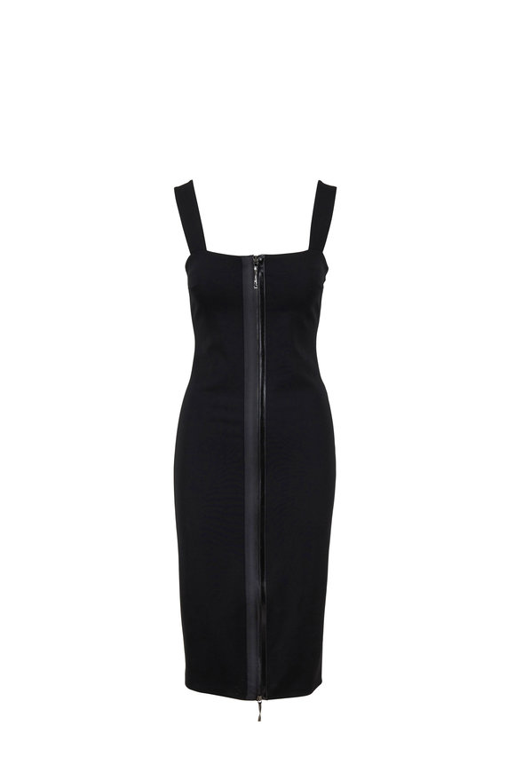Cushnie Black Zip Front Pencil Dress