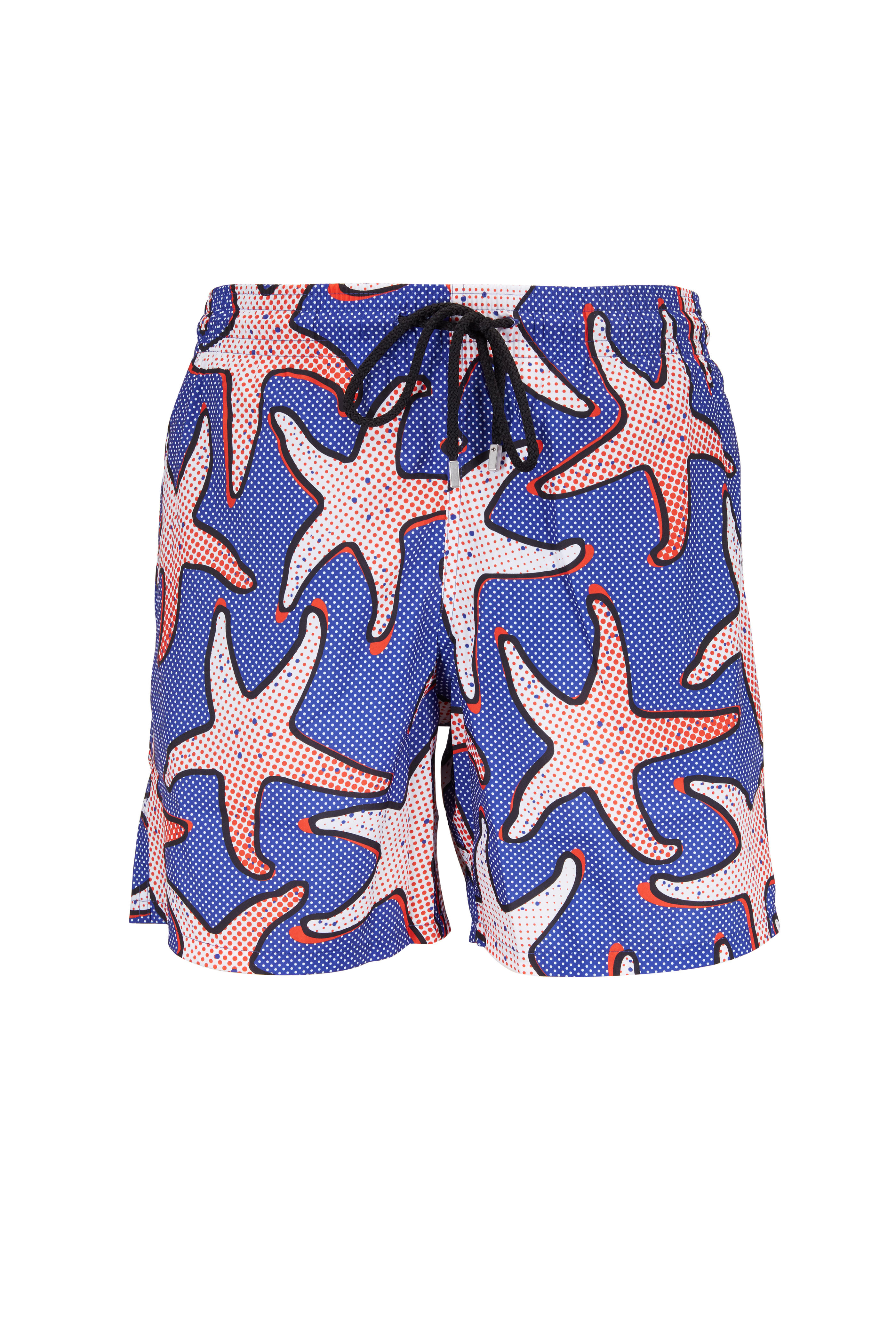 407dbf2e0c Vilebrequin - Blue Neptune Starfish Art Swim Trunks | Mitchell Stores