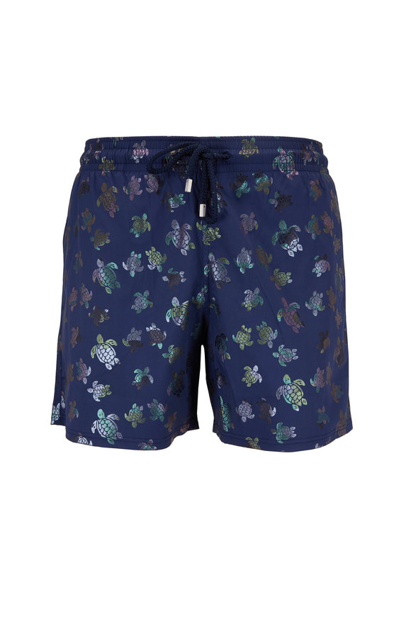 Vilebrequin Mordorè Navy Turtles Superflex Swim Trunks