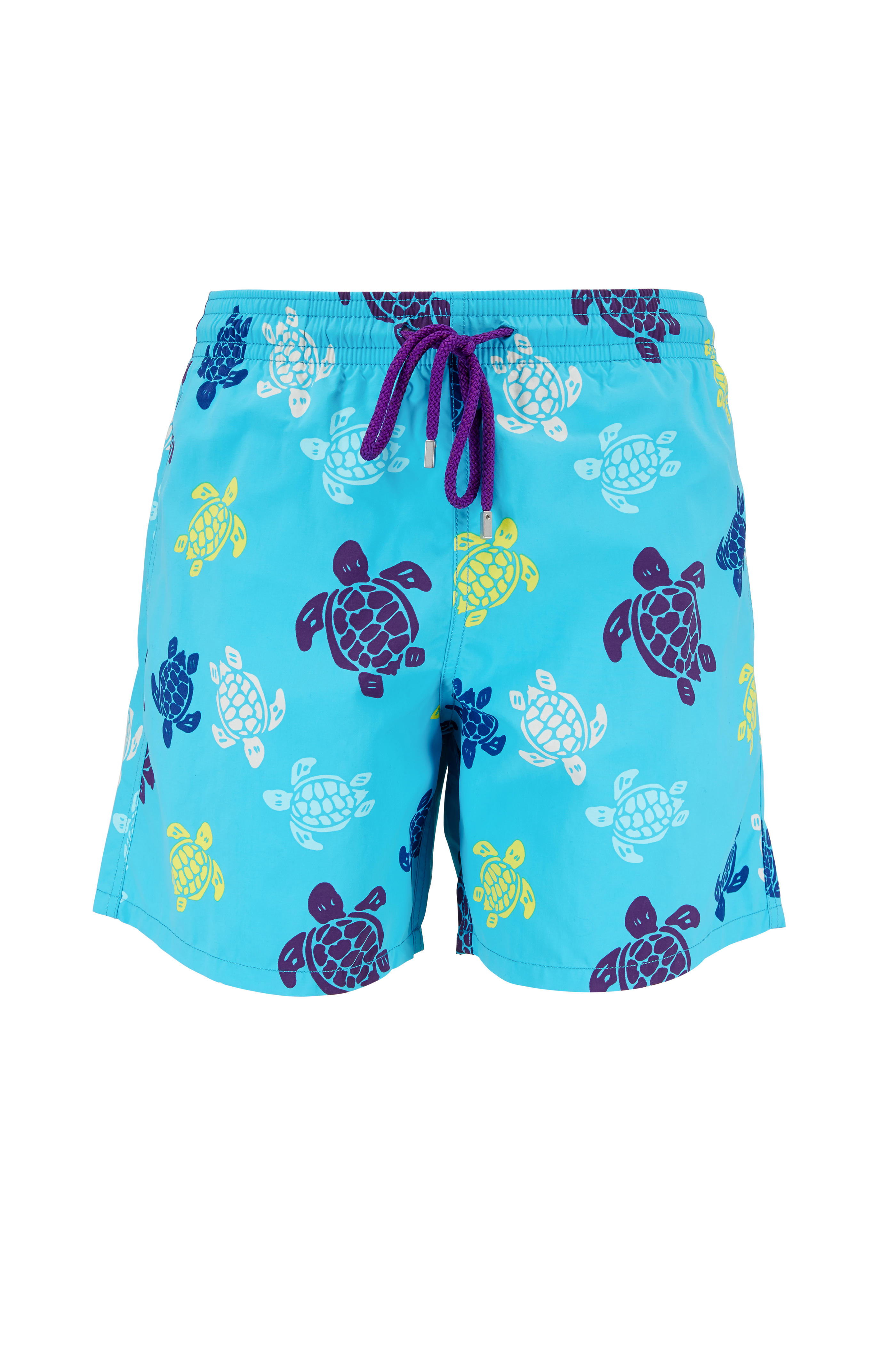 79fa5d2b46522 Vilebrequin - Moorea Blue Turtle Swim Trunks | Mitchell Stores