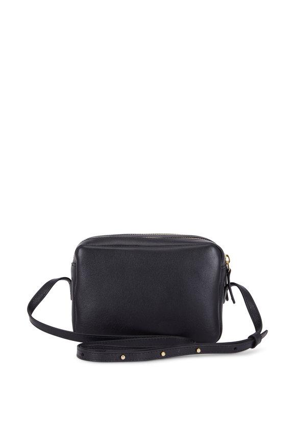 Mansur Gavriel Black Leather Double-Zip Crossbody Bag