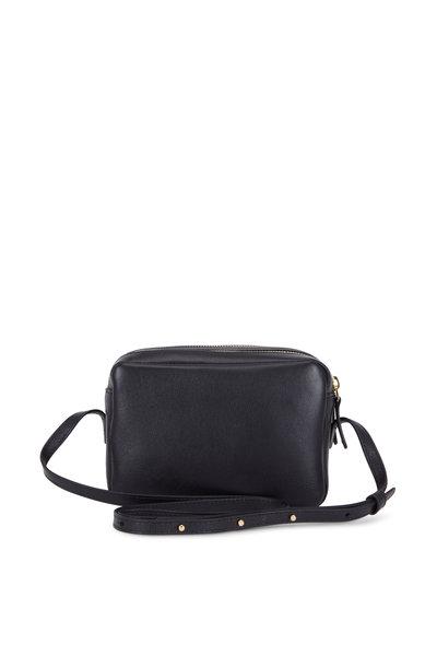 Mansur Gavriel - Black Leather Double-Zip Crossbody Bag