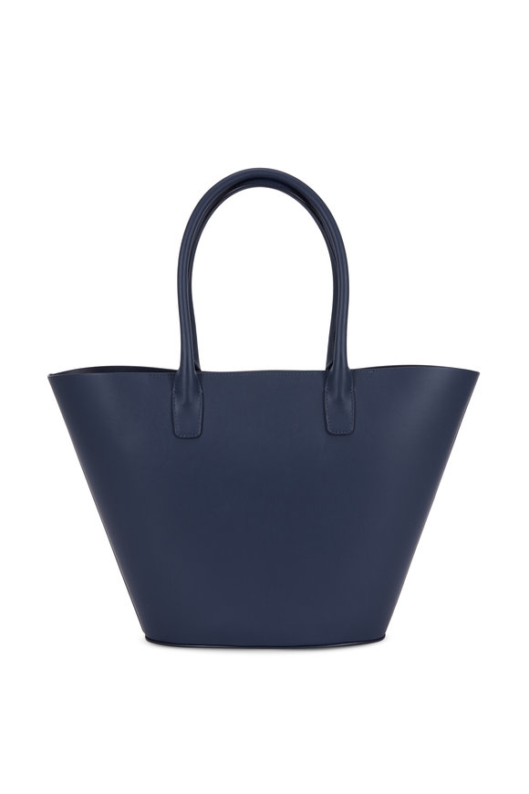 Mansur Gavriel Triangle Dark Blue Medium Tote