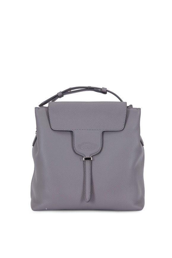 Tod's Joy Dark Gray Pebbled Leather Small Bag