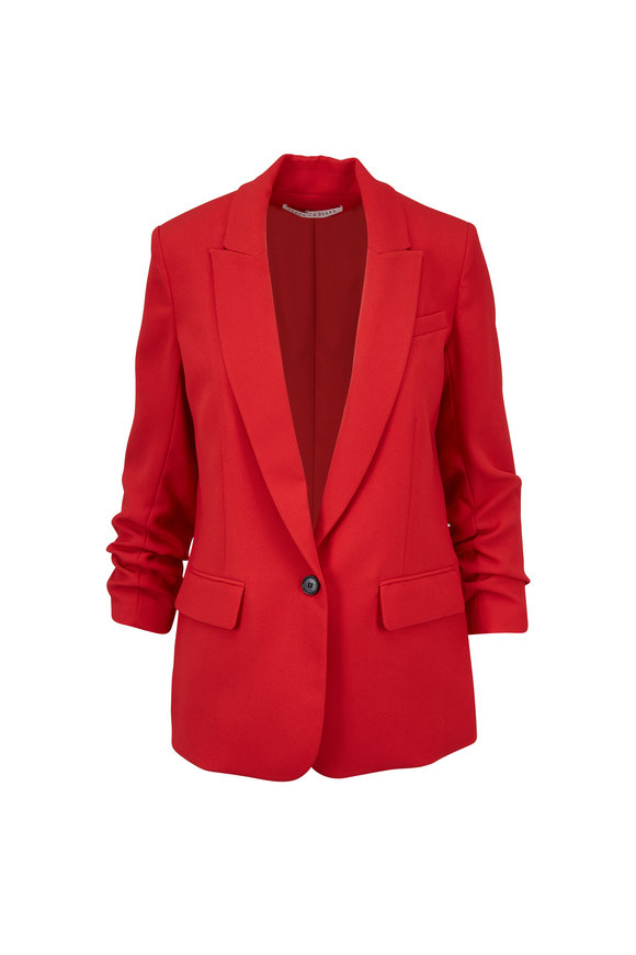Veronica Beard Graham Red Single Button Dickey Jacket