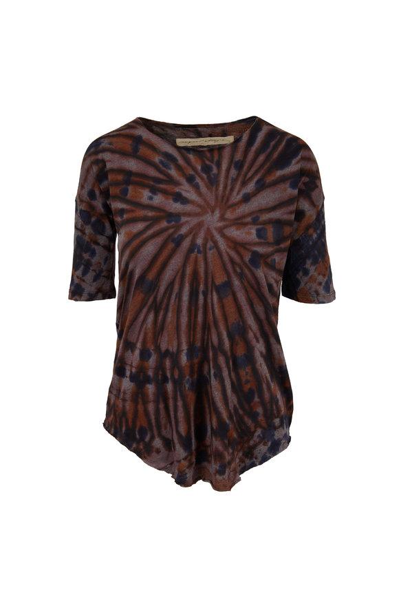 Raquel Allegra Basic Black Tie-Dye T-Shirt