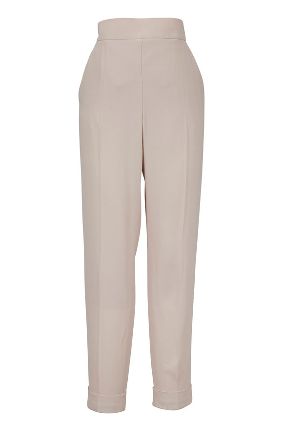 Akris Chris Moonstone Crêpe Elastic Back Pant